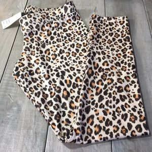 H & M Animal Print Leggings Size L